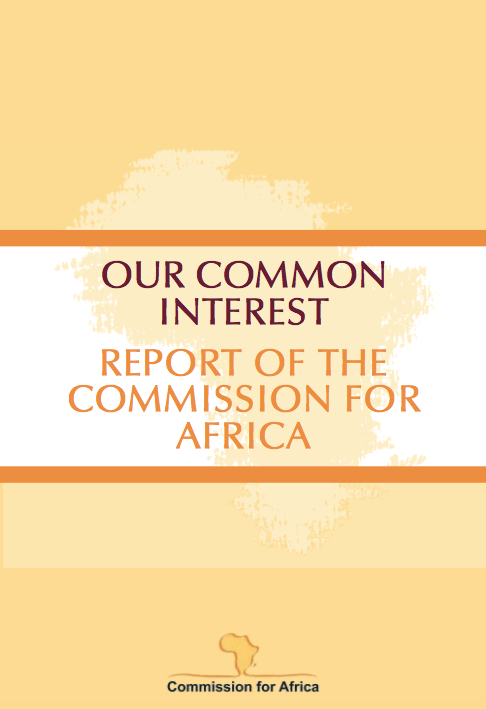 'Going for Growth and Poverty Reduction' in Our Common Interest Report front page
