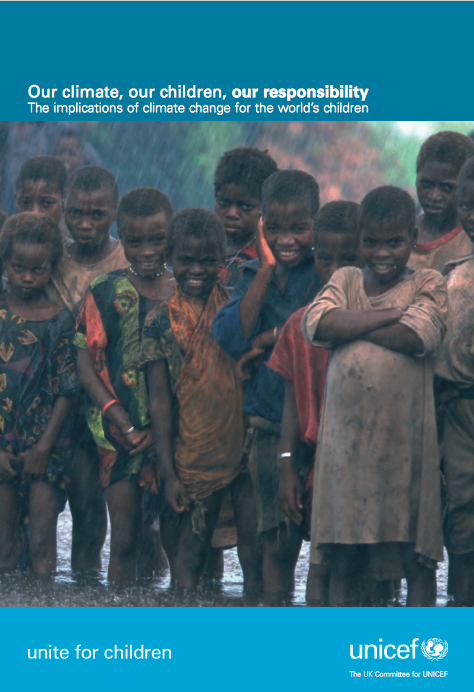 image of Unicef's report - Our Climate, Our Children, Our Responsibility report image