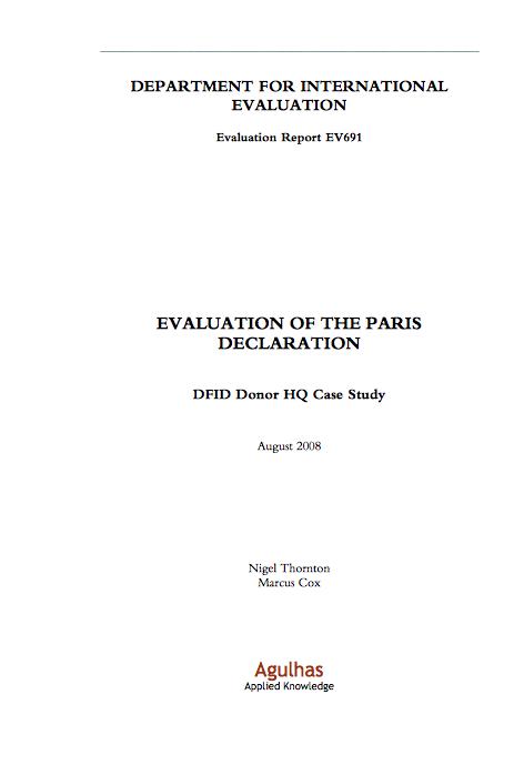 image of the Paris declaration evaluation 2008