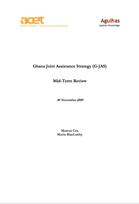 ACET's Ghana Joint Assistance Strategy (G-JAS) Mid-Term Review front page