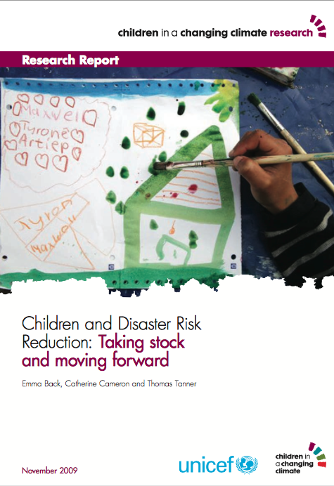 Children and Disaster Risk Reduction: Taking stock and moving forward report image 2009 front page