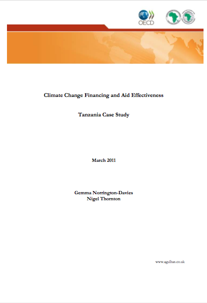 DFID's Political Economy of Climate Change in Tanzania report image