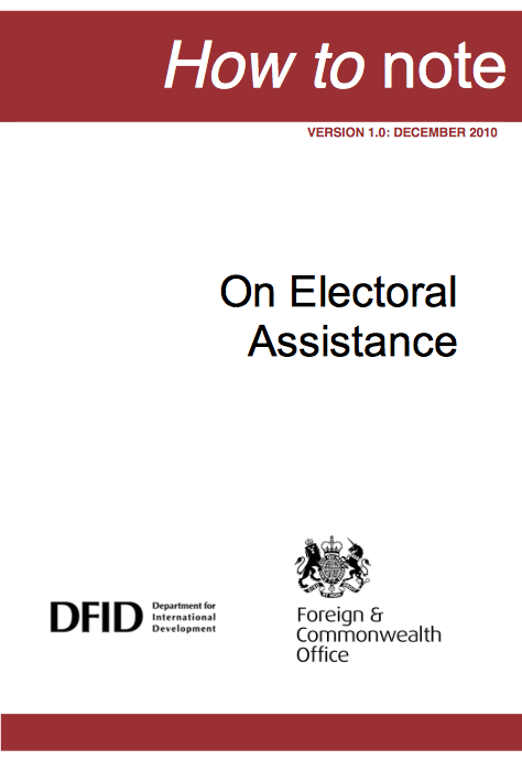 How to note on Electoral Assistance report front page