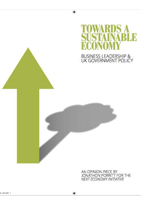 Towards a Sustainable Economy front page