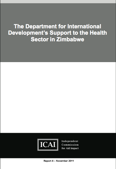 DFIDs Support to the Health Sector in Zimbabwe report front page