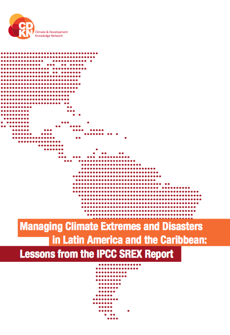 Managing Climate Extremes and Disasters in Latin America and the Caribbean report front page