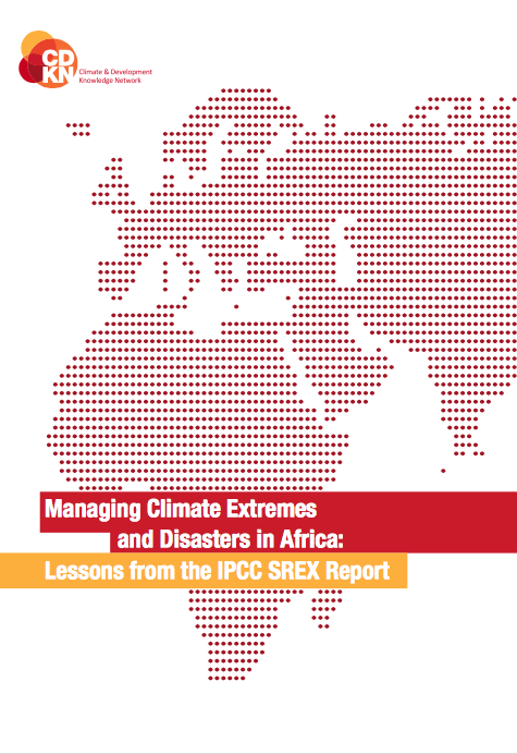 Managing Climate Extremes and Disasters in Africa (IPCC SREX Report) front page