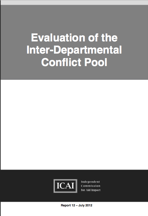 Evaluation of the Inter-Departmental Conflict Pool report front page