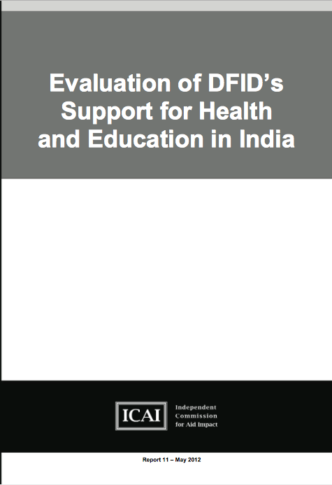DFIDs Support for Health and Education in India report front page