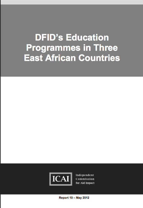 DFIDs Education Programme in Three East African Countries report front page