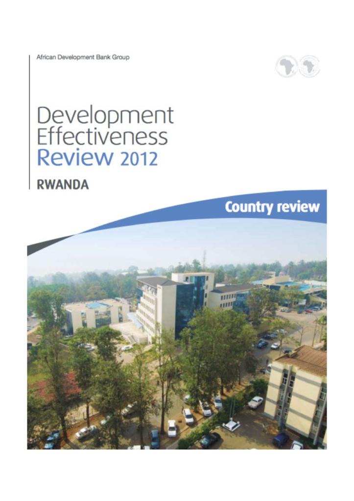 AfDBs Development Effectiveness review Rwandareport front page
