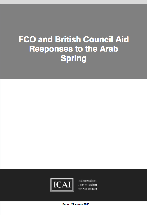 Foreign and Commonwealth Offices and the British Councils use of aid in response to the Arab Spring report front page