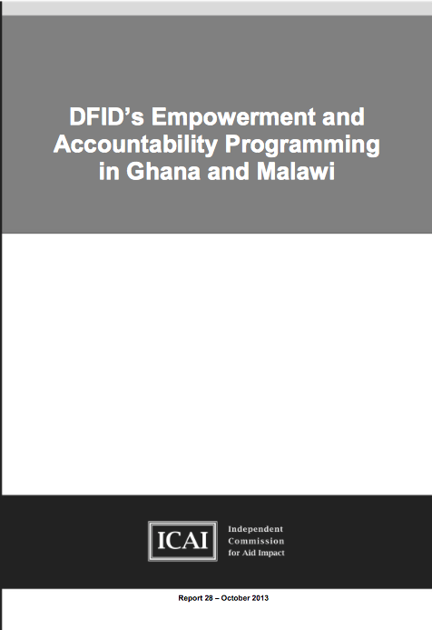 DFIDs Empowerment and Accountability Programming in Ghana and Malawi: Report front page