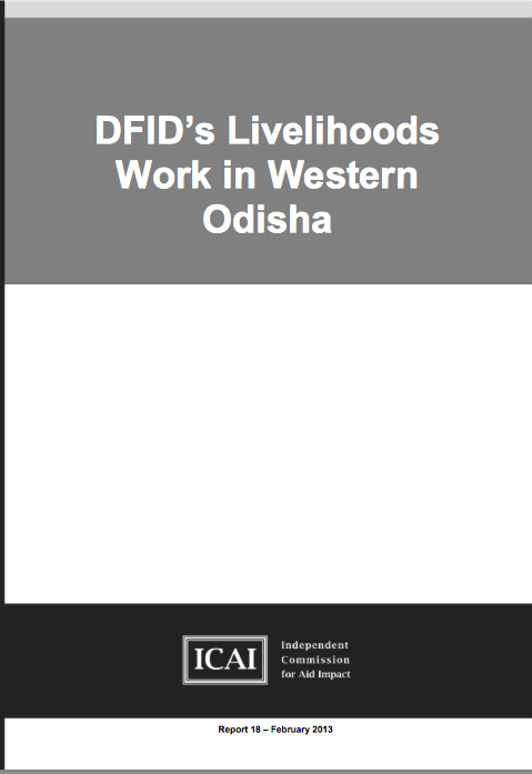 DFID Livelihoods Work in Western Odisha report front page