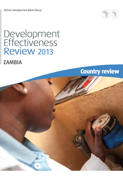 AfDBs Development Effectiveness Review, Zambia: report front page