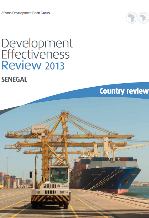 AfDBs Development Effectiveness Review, Senegal report front page