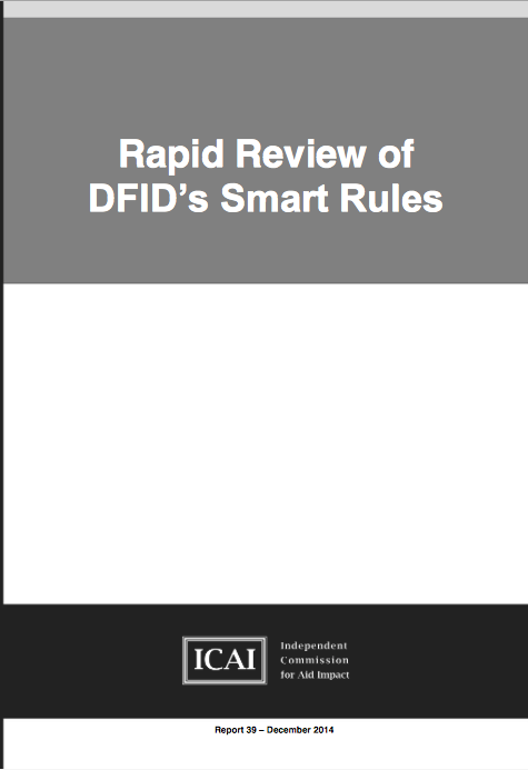 Rapid Review of DFIDs Smart Rules: report front page