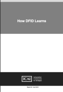 How DFID Learns: report front page