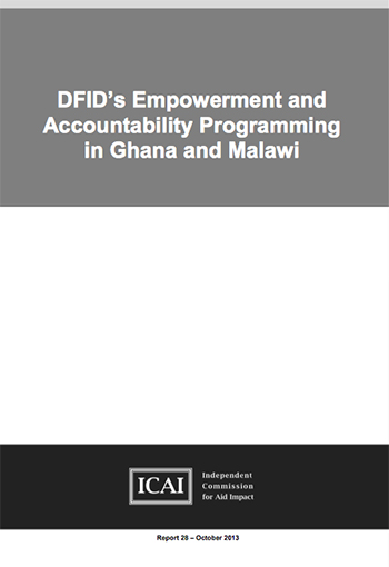 DFID's Empowerment and Accountability Programming in Ghana and Malawi: report front page