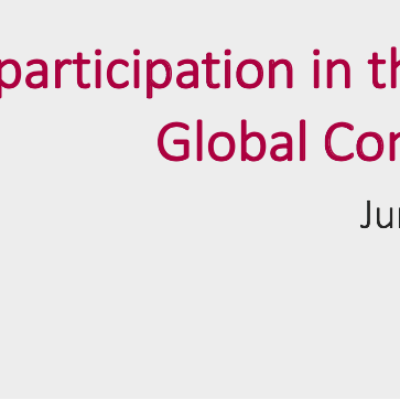 Participation in UN global compact front page