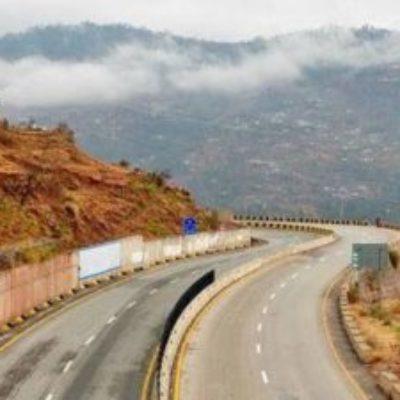 road on hillside