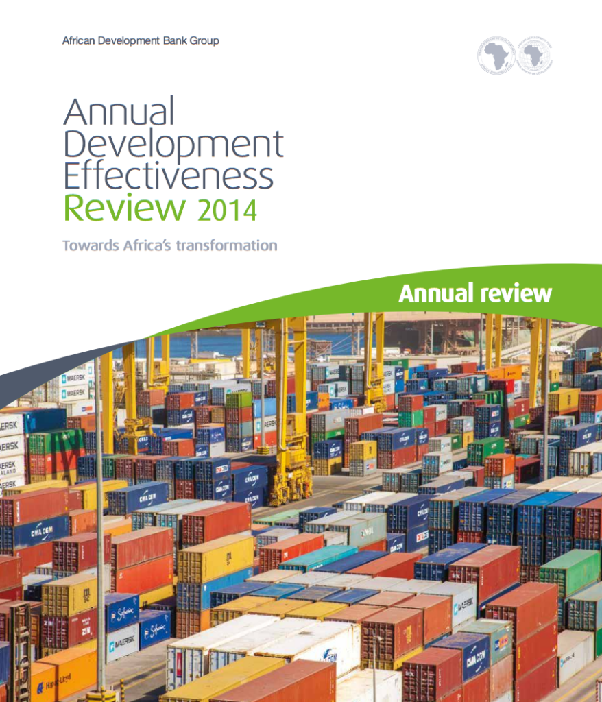 Annual development effectiveness report cover page