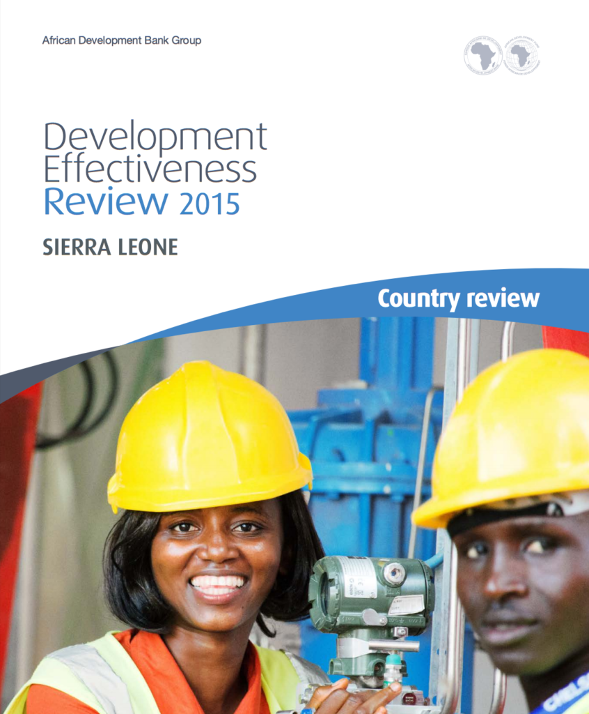 Development effectiveness review cover page