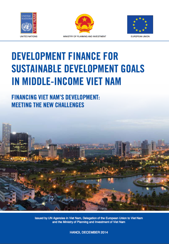 development finance for sustainable development goals in middle income vietnam report front page