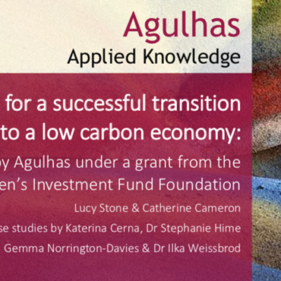 Lessons of a transition to low carbon economy report front page