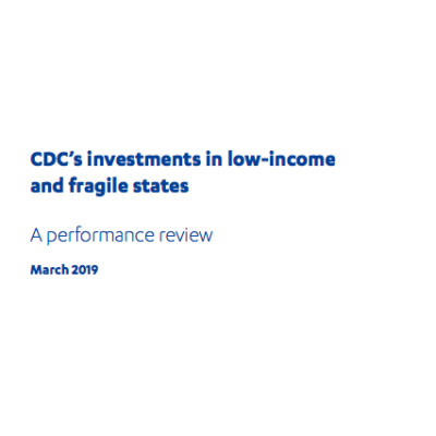 CDC investment in low income states review front page