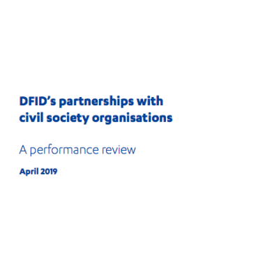 DFID partnerships and CSO review front page