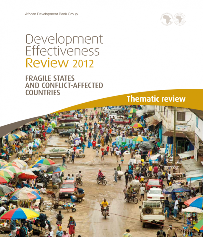 AfDBs Development Effectiveness review - Fragile States and conflict-affected countries report front page
