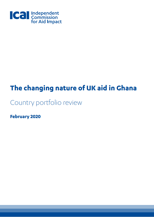 ICAI Nature of UK aid in Ghana review front page