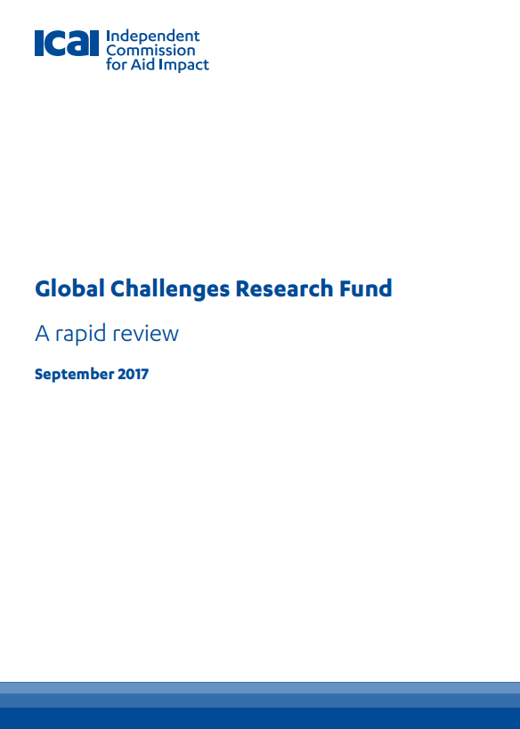 ICAI Global Challenges Research Fund review front page