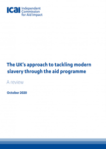 UK approach to modern slavery review front page