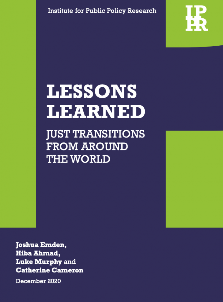 IPPR Lessons Learned publication cover