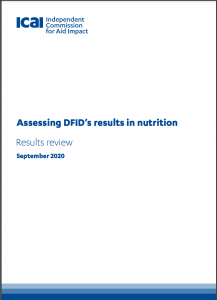 Assessing DFID's results in nutrition