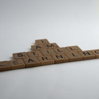 I am still learning in wooden blocks